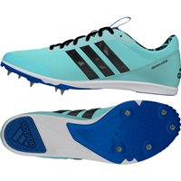 Adidas Womens Distancestar Running Spikes - Mint/Black/Blue