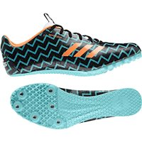 Adidas Womens Sprintstar Running Spikes - Black/Orange