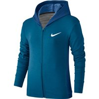 Nike Girls Obsessed Full Zip Hoodie -  Blue/White