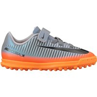 Nike Kids MercurialX VRX 3 (v) CR7 Turfs -  Cool Grey/Orange/Black