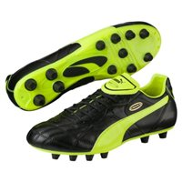 Puma Esito Classico Firm Ground Boots -  Black/Yellow/Gold