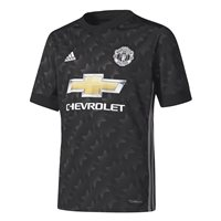 Adidas Manchester Utd Away Jersey 17/18 Youth - Black/White