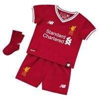 New Balance Liverpool Home Baby Kit 17/18 - Red