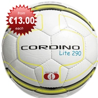 Precision Cordino Lite Match Football 290g - White/Yellow/Black