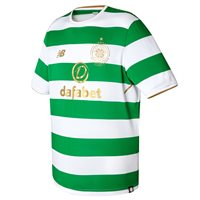 New Balance Celtic Home Jersey 2017/18 - Kids - Green/White