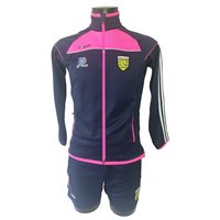 ONeills Ladies Donegal Aston Full Zip Squad Top - Marine/Flo.Pink/White