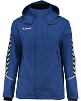 Hummel Authentic Charge All Weather Jacket - Youth -True Blue/Black