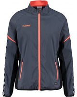 Hummel Authentic Charge Micro Zip Jacket Women - Ombre Blue/Nasturtium