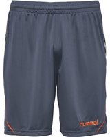 Hummel Authentic Charge Poly Shorts - Youth -Ombre Blue/Nasturtium