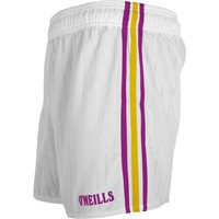 ONeills GAA Shorts - White/Purple/Amber
