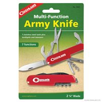 Coghlans Army Knife - 7 Function - Red