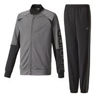 Adidas Boys Linear Tracksuit - Grey/Black