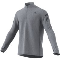 Adidas Mens Response Zip Running Top - Grey