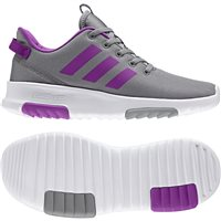 Adidas Girls Cloudfoam Racer TR K - Grey/Purple