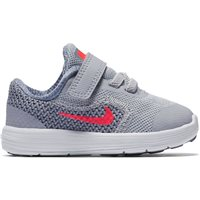Nike Revolution 3 TDV (Toddler Velcro) - Grey/White/Pink