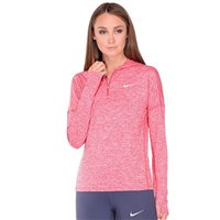 Nike Womens Dry Element Hoodie - Red/Heather