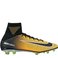 Nike Mercurial Veloce III DF FG Boots - Orange/Black-White-Volt