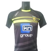 ONeills Donegal GAA Training Jersey 2017/18 - Grey/Black/Flo.Yellow