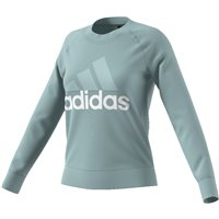 Adidas Womens Essential Linear Sweat Top - Green