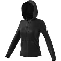 Adidas Womens Essentials Sold FZ Hoodie - Black
