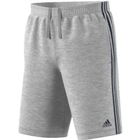 Adidas Essential 3 Stripe Cotton Short - Grey/Navy