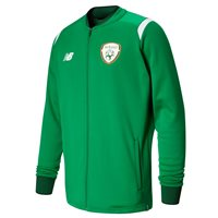New Balance FAI Ireland Elite Walk Out Jacket 17/18 Adults - JGN Green/Orange/White