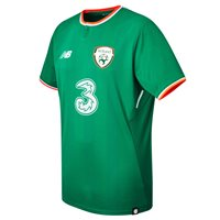 New Balance FAI Ireland Home S/S Jersey 17/18 Adults - JGN Green/Orange/White