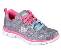 Skechers Girls Skech Appeal - Star Streamer - Grey/Multi