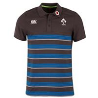 Canterbury IRFU Striped Cotton Polo 17/18 - Grey/Blue