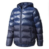 Adidas Boys Training Down Jacket - Navy