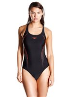 Speedo PLMT PBCK Womens Swimsuit - Black/Red
