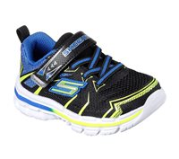 Skechers Boys Nitrate Ion Blast Memory Foam Runner - Black/Blue