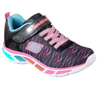 Skechers Girls S Lights Litebeams Colorburst - Black/Multi
