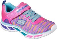 Skechers Girls S Lights Litebeams Colorburst - Neon Pink/Multi