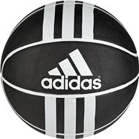 Adidas 3S Rubber X Basketball - Black/White