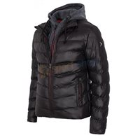 OutHorn Mens Hybrid Hooded Jacket - Black/Grey