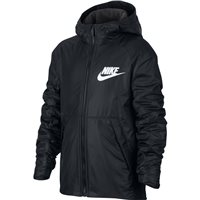 Nike Boys NSW Hooded Fleece Lined Jacket - Black