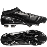 Puma ONE 17.1 FG Football Boots - Black/Black/Silver