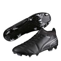 Puma ONE 17.2 FG Football Boots - Black/Black/Silver