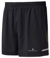 RonHill Mens Stride 5inch Shorts - Black/Blue/Green