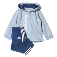 Adidas Boys FZ Hoodie Fleece Jogger Set - Sky/Navy