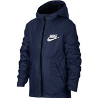 Nike Boys NSW Hooded Fleece Lined Jacket - Navy/White