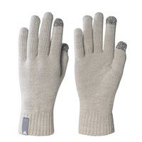 Adidas Knit Gloves with Smart Phone Conductive Tip - Grey