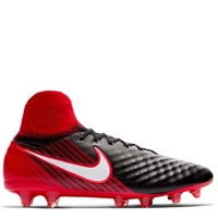 Nike Magista Orden II FG Football Boots - Black/Red/White