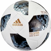 Adidas World Cup 2018 Telstar Top Glider Football - White/Black/Silver