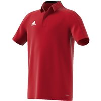 Adidas Condivo18 Polo  - Youth - Power Red/Black/White