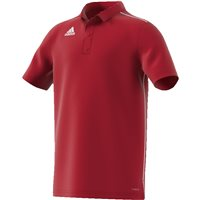 Adidas Core18 Polo - Youth - Power Red/White