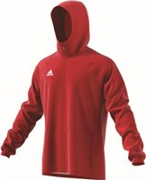 Adidas Condivo18 Rain Jacket - Power Red/White