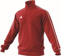 Adidas Core18 Poly Jacket - Power Red/White