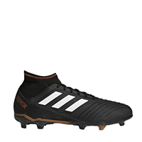 Adidas Predator 18.3 FG Firm Ground Boots - Black/White/SolarRed